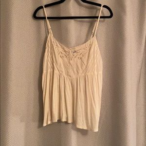 Cropped American Eagle tank top with sheer design